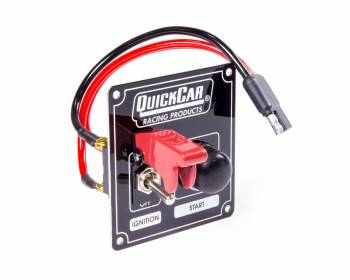 QuickCar Racing Products - QuickCar Ignition Control Panel w/Flip Switch Ignition Cover - Black