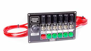 QuickCar Racing Products - QuickCar Fused Ignition Control Panel - Warning Lights - Black