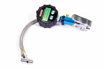 "QuickCar Racing Products - QuickCar Digital Tire Inflator/Gauge - 0-60 psi - 2-1/4"" Diameter - Black Face"