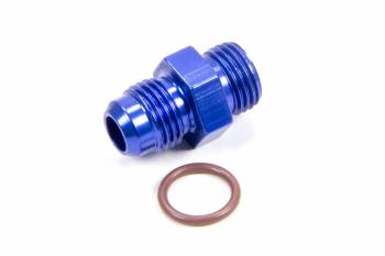 Fragola Performance Systems - Fragola -06 AN Male to -06 AN Male O-Ring Boss Adapter - Blue