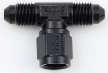 Fragola Performance Systems - Fragola -04 AN Male to -04 AN Female Swivel On Side Tee Adapter - Black