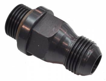 Quick Fuel Technology - Quick Fuel Technology -08 AN Fuel Inlet Fitting Extended Style - Black