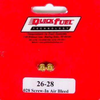 Quick Fuel Technology - Quick Fuel Technology Air Bleeds 10-32 (.072) 2pk