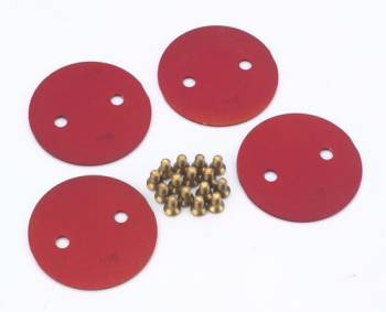 Quick Fuel Technology - Quick Fuel Technology 2in Throttle Plates Red Anodized (4Pk)