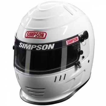 Simpson Speedway Shark Helmet - White
