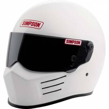 Simpson Bandit Auto Racing Helmet - White