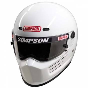 Simpson Super Bandit Auto Racing Helmet - White