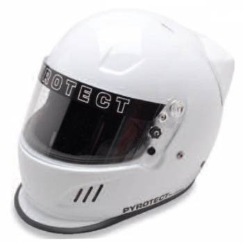 Pyrotect Pro Airflow SA2010 Duckbill Helmet w/ Wing - White