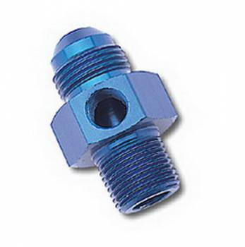 Russell Performance Products - Russell #6 Flare to 3/8 NPT Adaptertr w/ Female 1/8 NPT