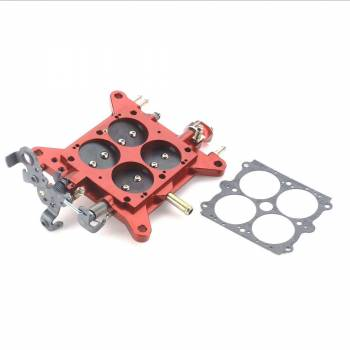 """Quick Fuel Technology - Quick Fuel TechnologyBillet Throttle Body Assembly 1 3/4"""" Red with Stainless Steel Plates"""