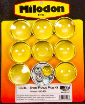 Milodon - Milodon Pontiac V8 Brass Freeze Plug Kit