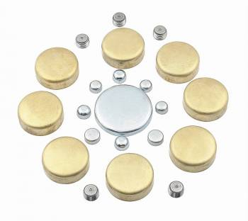 Mr. Gasket - Mr. Gasket Brass Freeze Plug Kit - For Positive Seal Use Teflon Tape Or Pro Pipe Sealant