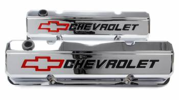 Proform Performance Parts - Proform Slant-Edge Valve Cover - Bow Tie Emblem - Chrome