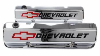 Proform Performance Parts - Proform Slant-Edge Valve Cover - Bow Tie Emblem - Chrome