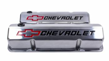 Proform Performance Parts - Proform Slant-Edge Valve Cover - Bow Tie Emblem - Polished