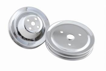 Mr. Gasket - Mr. Gasket Chrome Plated Pulley Set - Double Upper and Lower
