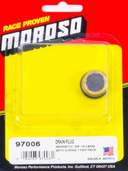 Moroso Performance Products - Moroso Magnetic Drain Plug - 3/4-16