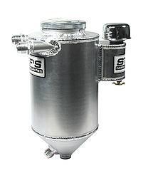 "Stef's Fabrication Specialties - Stef's Drag Race Aluminum Dry Sump Tank - 5 Qt. - 7"" Diameter x 17"""