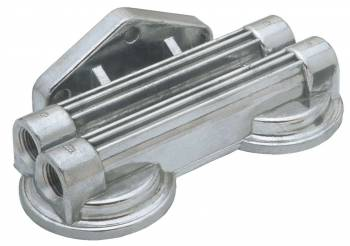Trans-Dapt Performance - Trans-Dapt Remote Oil Filter Bracket - Dual