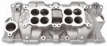 Edelbrock - Edelbrock C-26 Dual-Quad Intake Manifold - Cast Finish