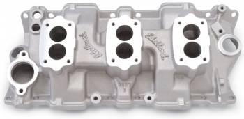 Edelbrock - Edelbrock C357-B Three-Deuce Intake Manifold - Cast