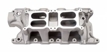 Edelbrock - Edelbrock Performer RPM Dual-Quad Air-Gap Intake Manifold - Cast Finish