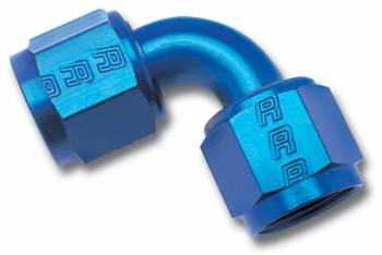 Russell Performance Products - Russell #8 Swivel Coupler Fitting 90 Blue