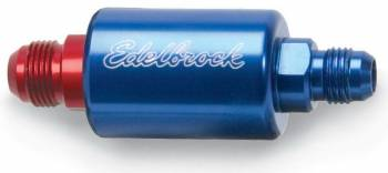 Edelbrock - Edelbrock Replacement Fuel Filter - Blue Anodized Aluminum
