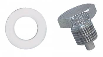 Moroso Performance Products - Moroso Oil Pan Drain Plug - Clear Zinc