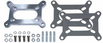 Trans-Dapt Performance - Trans-Dapt Carburetor Adapter - Large 350-500-650 CFM Holley 2 bbl. Carburetor To Any Rochester 4 Bolt 2 bbl. Manifold Base