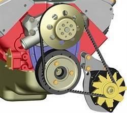 Powermaster Motorsports - Powermaster Chrome Low Mount Bracket - SB Chevy