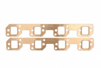 SCE Gaskets - SCE SB Chevy Copper Exhaust Gaskets for HKR Adapter Plate