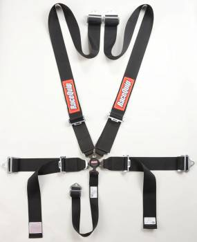 RaceQuip - RaceQuip Sportsman SFI 16.1 5-Point Camlock Harness Set - Black