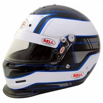 Bell K.1 Pro Circuit Helmet - Blue (Left Side View)