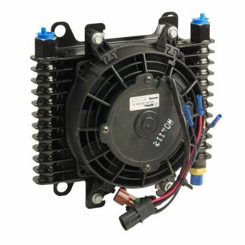 B&M - B&M Hi-Tech Transmission Cooler w/ Electric Fan