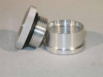 Meziere Enterprises - Meziere 1.75 AluminumCap & Aluminum Bung Assembly