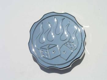Meziere Enterprises - Meziere Radiator Cap - 16lbs. Fire & Dice Logo