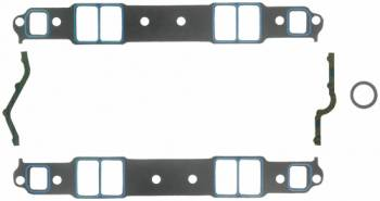 "Fel-Pro Performance Gaskets - Fel-Pro Intake Manifold Gaskets - SB Chevy - Cast Iron & Aluminum Heads w/ Conventional Ports - Medium Race Port, Brodix -8, -10, -11, -11X, T1 - 1.31"" x 2.21"" Port Size - .060"" Thickness"