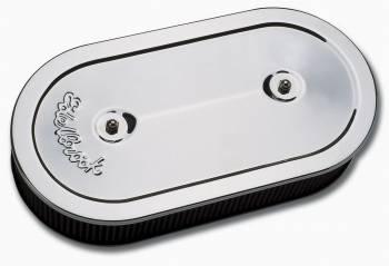 Edelbrock - Edelbrock Pro-Flo Chrome Air Cleaner - Oval For Dual-Quads