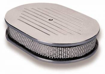 """Holley Performance Products - Holley Custom Oval Air Cleaner - 5-1/8"""" Neck"""