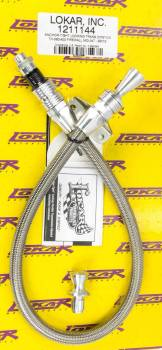 Lokar - Lokar Anchor-Tight Locking Flexible Transmission Dipstick - TH-350/400 Firewall Mount