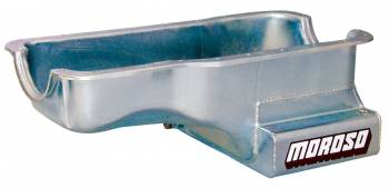 Moroso Performance Products - Moroso SB Ford 289-302 Front Sump Oil Pan w/ Kick-Out- 7 Qt.