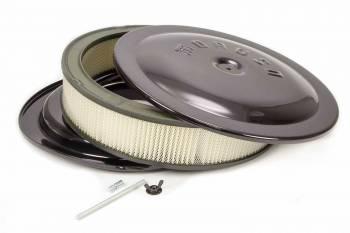 "Moroso Performance Products - Moroso Air Cleaner Kit - 14"" X 3"" - Raised bottom - Black Powder Coat"