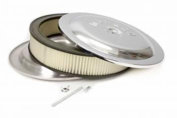 "Moroso Performance Products - Moroso Air Cleaner Kit - 14"" X 3"" - Raised bottom - Chrome"