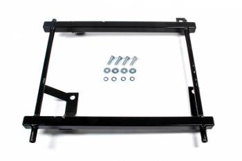Procar by Scat - ProCar Seat Adapter Seat Brackets - Driver Side - Steel, Black, 66-77 Dodge Charger, Coronet / Plymouth Fury, Satellite