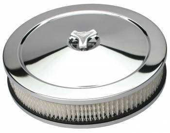"Trans-Dapt Performance - Trans-Dapt Chrome Air Cleaner - Muscle Car Style - 10"" Diameter"