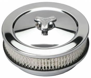 "Trans-Dapt Performance - Trans-Dapt Chrome Air Cleaner - Muscle Car Style - 6 3/8"" Diameter"