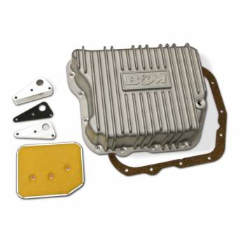 B&M - B&M Transmission Cast Deep Pan, Brushed Finish TF727/ 518&618/48RE Cummins