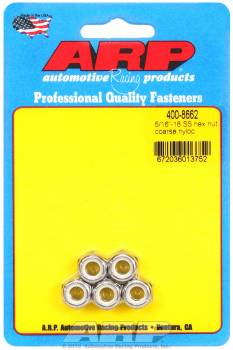 ARP - ARP Stainless Steel Hex Nyloc Nuts 5/16-18 (5)