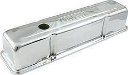 Dart Machinery - Dart SB Chevy Steel Chrome Tall Valve Covers w/ Dart Logo
